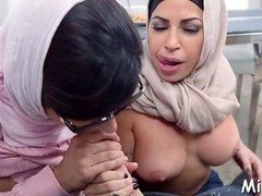 arab chick shows handjob skills film