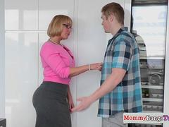 Classy spex cougar gets stepdaughter railed