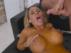 Stunning MILF with big boobs was seduced by local hunter