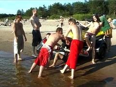 Nudist video at the beach with hot young babes