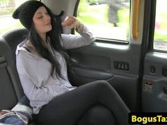 Rimming babe fucked in taxi