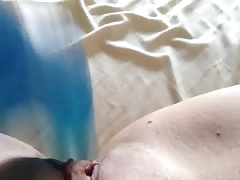POV - NEW DILDO BOUGHT ON AMAZON USED IN SALTY CUNNY