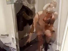 Hot blonde milf goes shopping