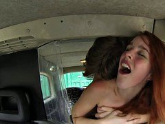 Spanish taxi ginger fucked doggystyle