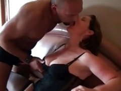 My Soccer mom Exposed Thik mom in fishnets giving bj and getting down and dirty BBC