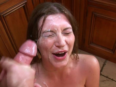Brunette tramp with huge saggy tits really knows how to fuck