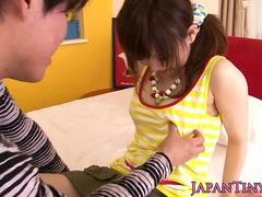 Dicksucking pigtailed Japanese pounded