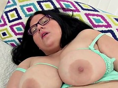 busty bbw pleasures herself with toys