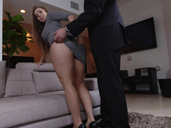 Hot honeys get their feet fucked and adored