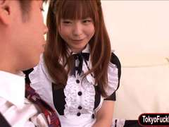 Tight Japanese maid fucked by her master