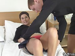 His wife sucks and rides another cock!