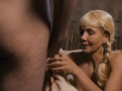 MAGGIE GYLLENHAAL   HAS SEX WITH SOME VIKINGS And furthermore GETTS CUM