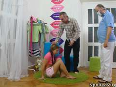 Lora is a youthful cherry and with her guy having the doctor orgasm over,masturbation will be examined as a cherry.