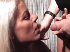 Blonde eager mom with dessouse