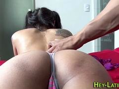 Little latina gets railed