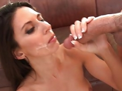 Eager momGonzo Fit Eager mom Nikki Daniels gets fucked on the couch