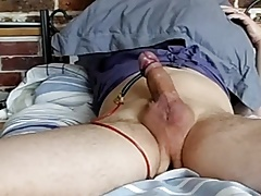 E-Stim rosebud anal and conductor around foreskin
