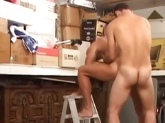 Cop has an intercourse in the garage