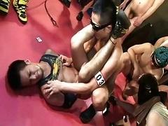 Hot japanese real hardcore orgy  (2)