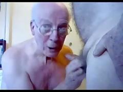 grandpa couple on webcam