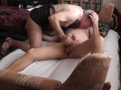 My daddy Ally & I In pantyhose Petting (2 Cams)