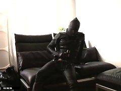 Gay In Latex Suit Teasing