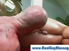 Straight guy dominated by skinhead tattooed gay