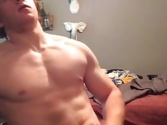 Ginger Muscle Boy Jerks Off and Cums