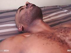 Arab stud Parallel Parker strokes his beautiful cock