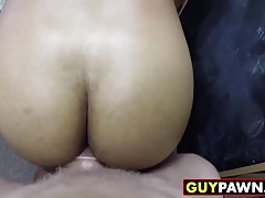 Desperate guy sucks dick and let two dudes fuck his asshole