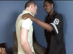 interracial threesome with gay dudes doing the action