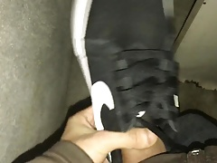 Fuck,spit,piss and cum nike sneaker