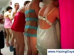 Gay cross dressing during hazing