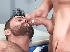 Cum in his mouth!!!