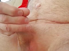 Cumming in the morning outside
