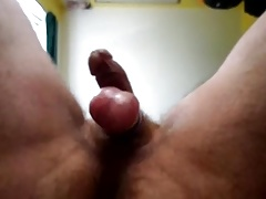 Big tight balls small dick from under view
