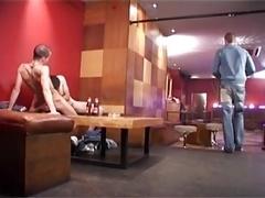 a duo hot guys fuck bb in a bar