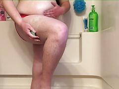 Chub showers in speedo 4-1-17