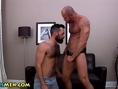 Hot and hairy gay bears kiss