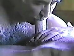 Old men playing a big cock