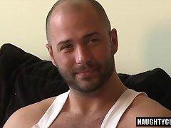 Big dick boy threesome with facial