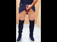 Boots & stockings & cum