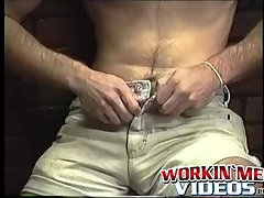 Hot amateur dude Dallas with long hair enjoys in a solo play