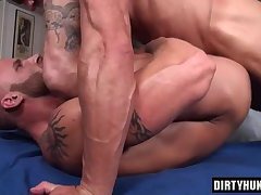 Muscle gay flip flop with massage