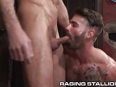 RagingStallion Latino Big Brother Star Fucks Ass