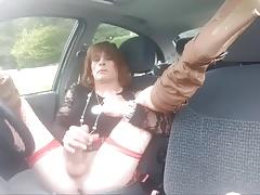 Wanking in car Kinross Park