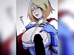 Powergirl cum tribute