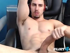 Jake Orion solo shoots in own mouth