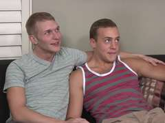2 blistering gays Pete and Cory screw without a condom