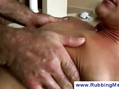 Straight guy gets happy ending massage